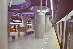 华沙地铁系统第二条线  免版税图库摄影