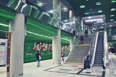 华沙地铁系统第二条线  库存图片