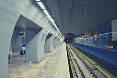 华沙地铁系统第二条线  图库摄影