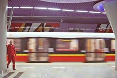 华沙地铁系统第二条线  免版税库存图片
