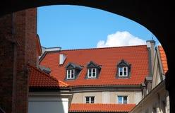 华沙城市视图  免版税库存照片