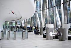 华沙尖顶 编译的现代办公室 库存照片