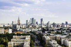 华沙市中心 免版税库存照片