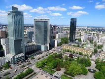 华沙市中心 库存图片