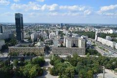 华沙市地平线,波兰 库存照片