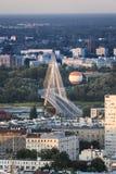 华沙市,波兰全景  免版税库存照片