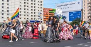 华沙平等游行2017年 库存照片