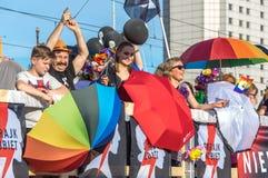 华沙平等游行2017年 免版税图库摄影