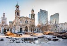 华沙广场 库存照片