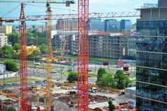 华沙波兰, 2016年5月16日 大厦一代公园 库存图片