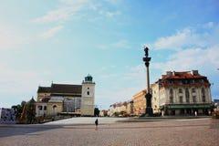 华沙的广场 库存图片