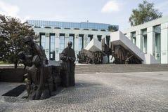 1944年华沙的战争纪念建筑造反波兰欧洲 库存照片