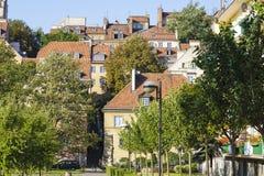华沙的老城内住宅,波兰 免版税库存图片