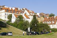 华沙的老城内住宅 免版税库存图片