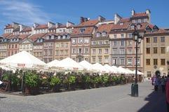 华沙的老镇市场 免版税库存照片