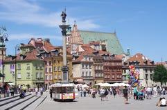 华沙的老镇皇家正方形,波兰 免版税库存图片