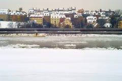 华沙的老镇 图库摄影
