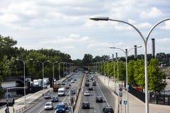 华沙的街道,波兰 库存照片