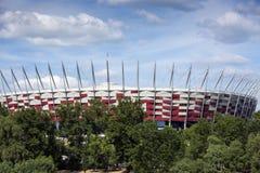 华沙的街道 免版税库存照片