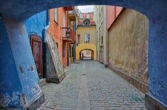 华沙老城镇 库存照片