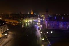 华沙老城,圣诞节时间 图库摄影