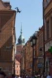 华沙老镇在波兰 免版税库存照片