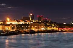 华沙老镇横跨维斯瓦河的 库存图片