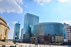 华沙街市全景视图 免版税库存图片