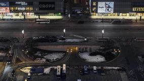 华沙街市在夜间流逝期间 影视素材