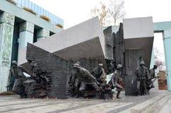 华沙起义纪念碑在华沙,波兰 免版税库存图片