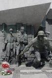华沙起义纪念碑 库存照片