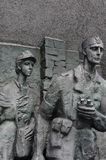 华沙起义纪念碑 免版税库存图片