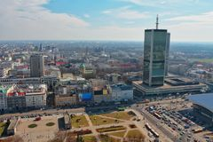 华沙,市中心 库存照片
