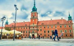 """华沙,波兰†""""2017年5月07日:皇家城堡在华沙-国家历史文物 库存照片"""