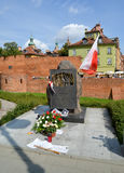 华沙,波兰 军队波兰语的官员纪念碑`记忆,死了更加下旬的1939年9月17日` 库存照片
