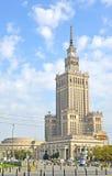 华沙,波兰 在文化和科学宫殿的一个类型  免版税库存图片