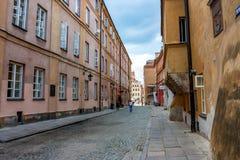 华沙,波兰- 2012年6月:华沙街道  图库摄影