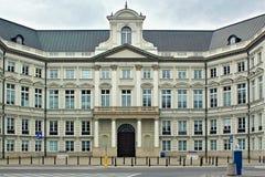 华沙,波兰- 2012年5月12日:Jablonowski宫殿的看法 库存照片