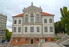 华沙,波兰 弗雷德里克肖邦` s博物馆Ostrozhsky `宫殿在多云天 库存照片