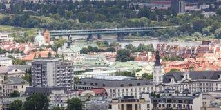华沙,波兰- 2015 7月09日,视图 库存照片