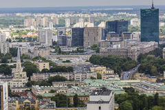 华沙,波兰- 2015 7月09日,视图 免版税库存照片