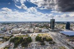华沙,波兰- 2015 7月09日,视图 免版税库存图片