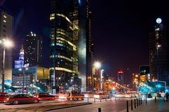 华沙,波兰- 2016年3月28日:回旋曲1办公楼,高度192 m 库存图片
