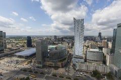 华沙,波兰-从观察台的2015 7月09日,视图 免版税图库摄影