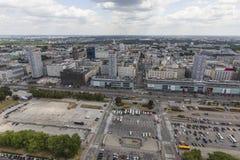 华沙,波兰-从观察台的2015 7月09日,视图 免版税库存照片