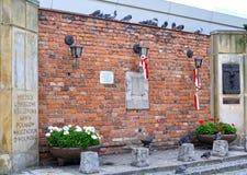 华沙, POLAN 对死者的一份纪念品在1944年1月28日的华沙反叛期间 免版税库存图片