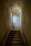 华沙, POLAND/EUROPE - 9月17日:在Wilanow的楼梯 免版税库存图片