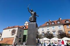 华沙 对1月Kilinitsky的纪念碑 免版税库存图片