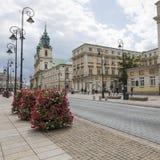 华沙- 7月09 :圣十字教堂 图库摄影