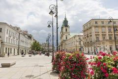 华沙- 7月09 :圣十字教堂 免版税图库摄影